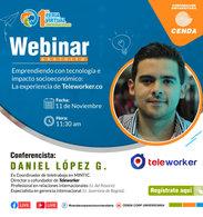 Webinar Teletrabajo Fundación Universitaria Cenda - 11 de noviembre de 2020