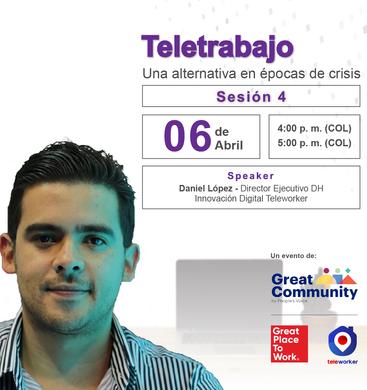 Webinar Teletrabajo Great Place to Work y Teleworker - 6 de abril de 2020