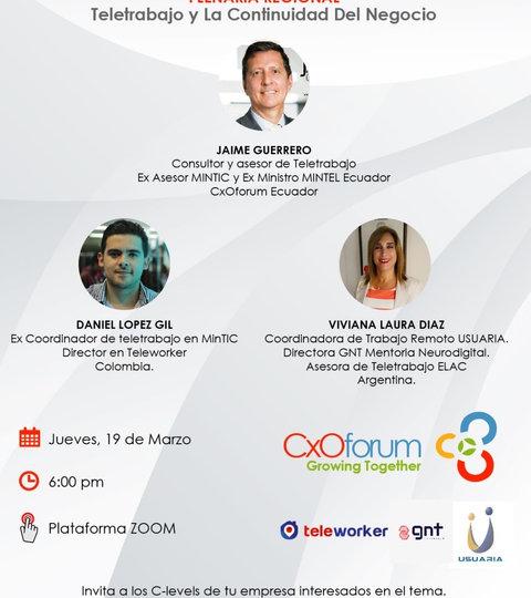 Webinar CxO forum y Teleworker - 19 de marzo de 2020