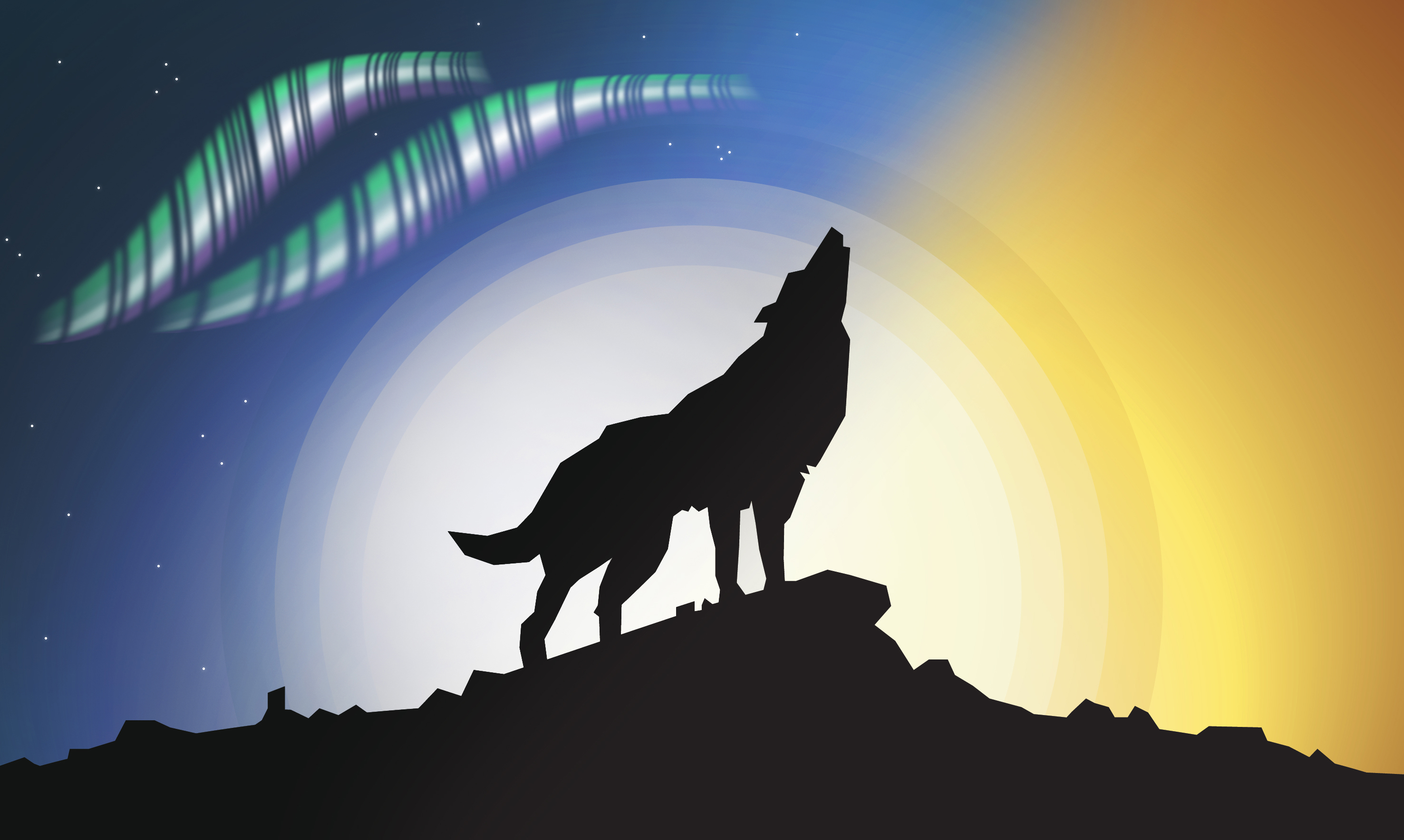 wolf silhouette (v2)