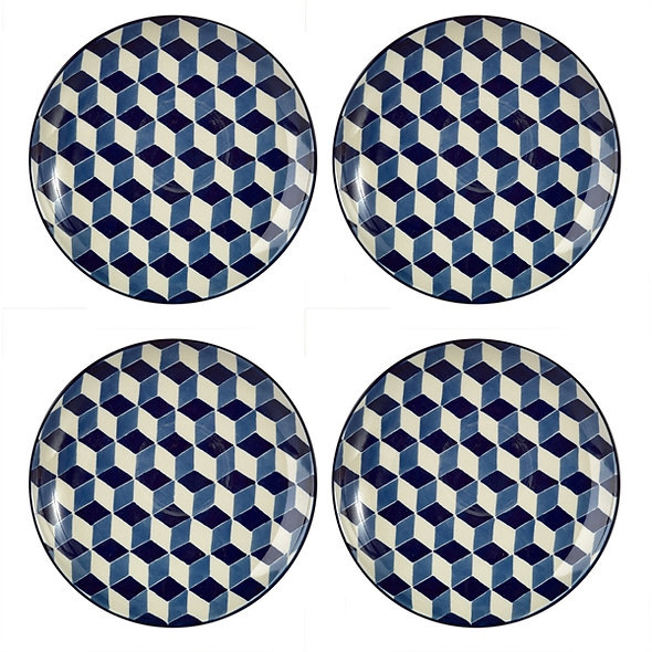 Plates 3D Blue Set XL
