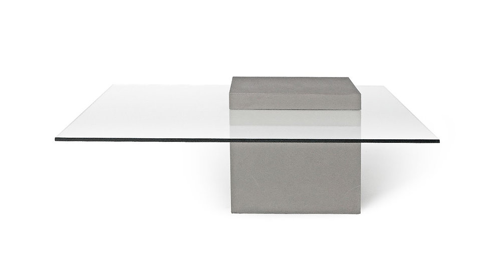 Concrete & Glass Coffee Table
