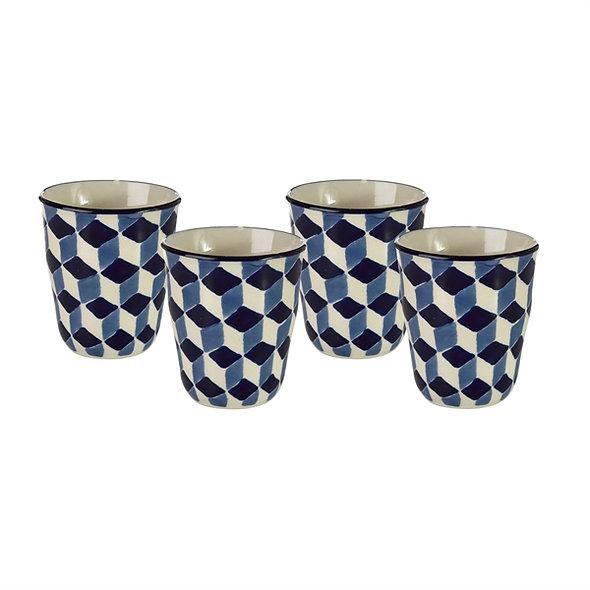 Cups 3D Blue Set