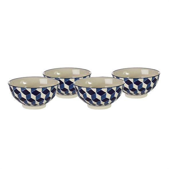 Bowls 3D Blue Set
