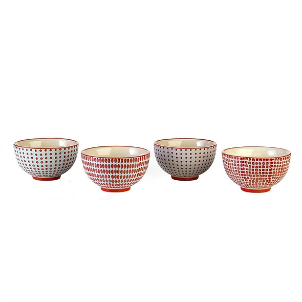 Bowls Red dotties