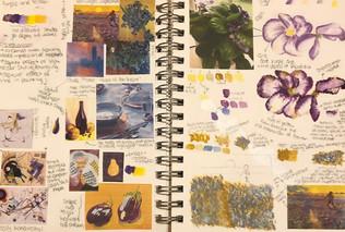 Isabella Somma - Purple Yellow Study