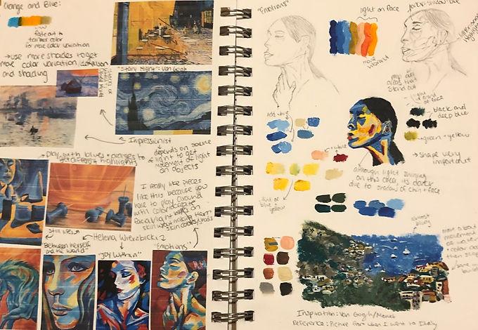 Isabella Somma - Blue Orange Study