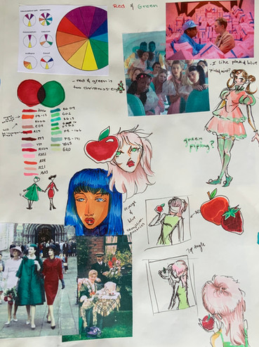 Gilana Etame - Red Green Study