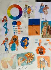 Gilana Etame - Blue Orange Study