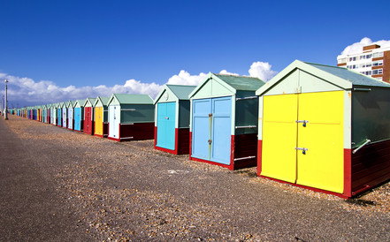 Beach huts, Brighton & Hove, UK