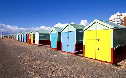 Beach huts, Brighton & Hove, UK