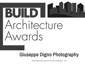 Awarded Best Hospitality Architecture Photographer - UK - by Build Magazine