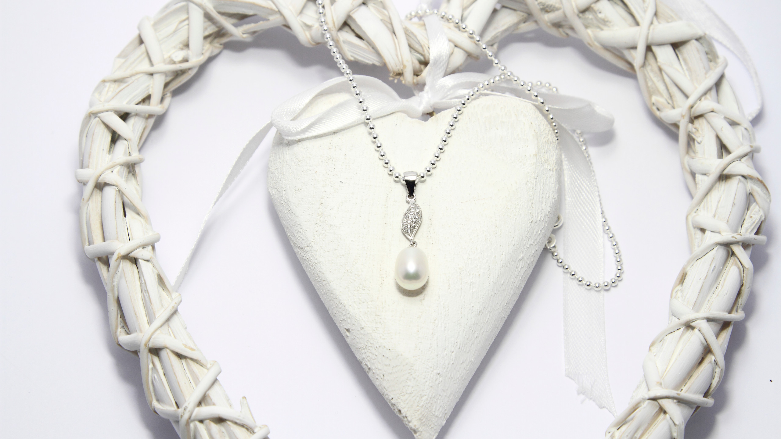 Sterling Silver Freshwater Pearl Charm Necklace