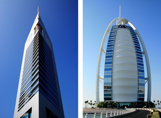 Emirates Tower/Burj Al Arab, Dubai, UAE