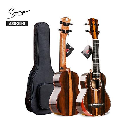 """Smiger Ukulele 21"""" Soprano ARS-30 Ukulele Grade a Ziricote 4 String With Bag"""