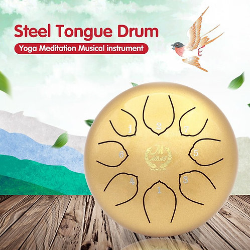 1Pcs   Steel Tongue meditation Drum and Accessories