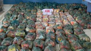 Continua a distribuição de alimentos da Live Solidária em Ubaitaba