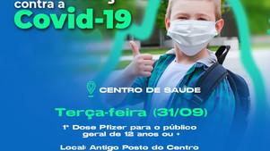 Covid-19: Ubaitaba começa a vacinar adolescentes apartir de 12 anos sem comorbidades