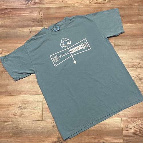 Blue Field Rows Classic Tees