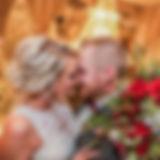bride, groom, flowers