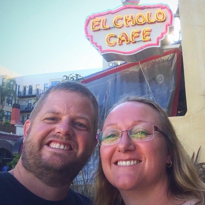 Kathy and I at El Cholo Cafe in Pasandena, California.