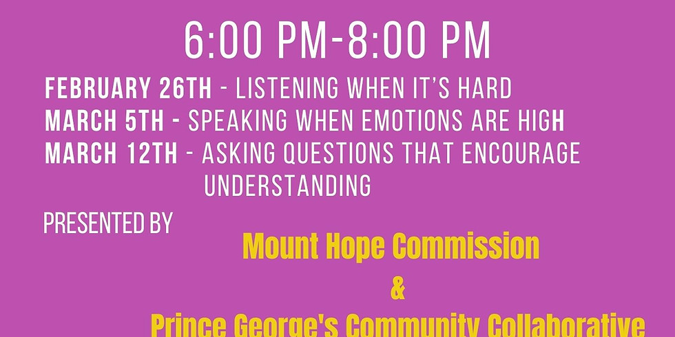Radical Listening for Relationship Building - The Town of Cheverly