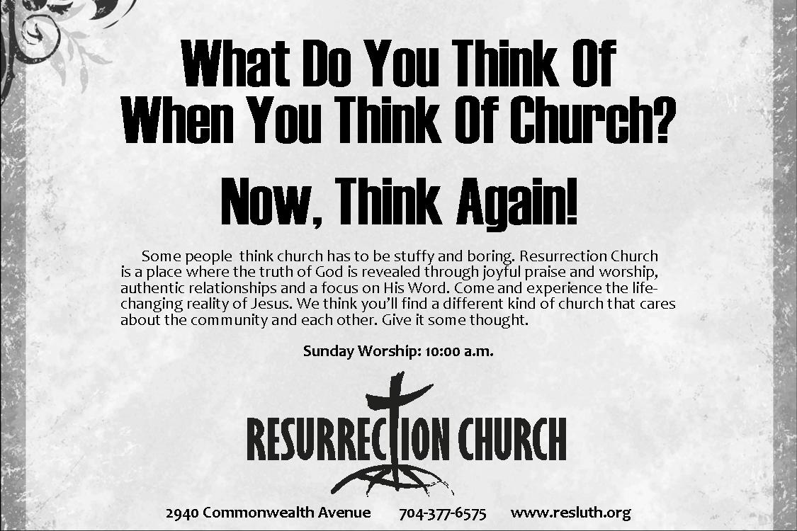 Print Ad for Resurrection Church