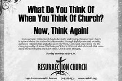Print Ad for Resurrection Church