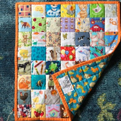 Eye Spy Quilt: Woodland Animals (Boy)