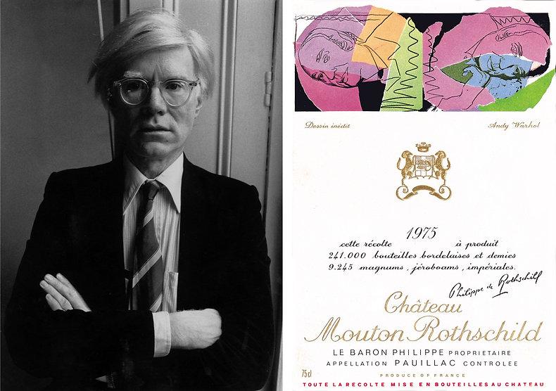 Энди Уорхол (1975 г.) этикетка вина мутон ротшильд