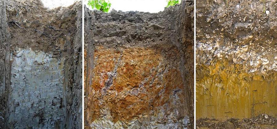 На фото: почва в Chateau Gazin