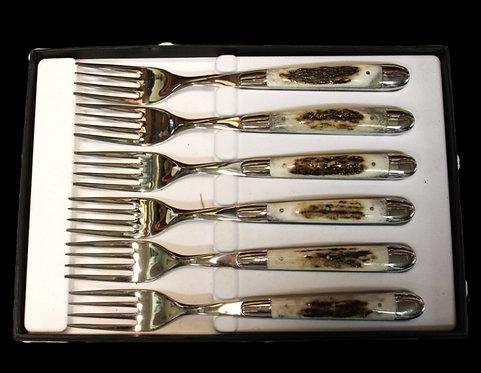 набор вилок laguiole рог оленя