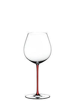 Бокал Riedel Fatto a Mano Old World Pinot Noir Red с красной ножкой