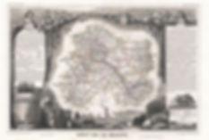 Старая карта региона Шампань 1852