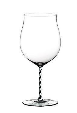 Бокал Riedel Fatto a Mano Burgundy Grand Cru Black and White Twisted