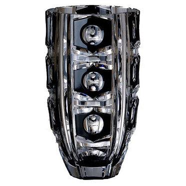 Ваза (черный хрусталь) 30 см Ajka Crystal