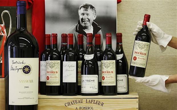 Аукцион Christie's продажа вин из коллекции сэра Алекса Фергюсона