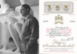 Генри Мур (1964 г.) этикетка для вина мутон ротшильд