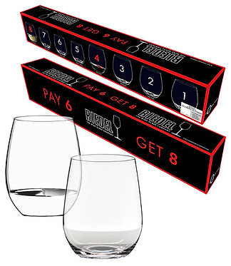 Бокалы O-Riedel Cabernet /Merlot + Viognier /Chardonnay 8 по цене 6 упаковка