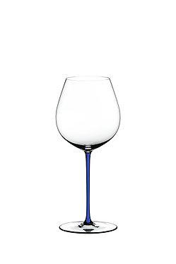 Бокал Riedel Fatto a Mano Old World Pinot Noir Dark Blue с синей ножкой