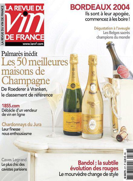 Главный винный журнал Франции La Revue du Vin de France