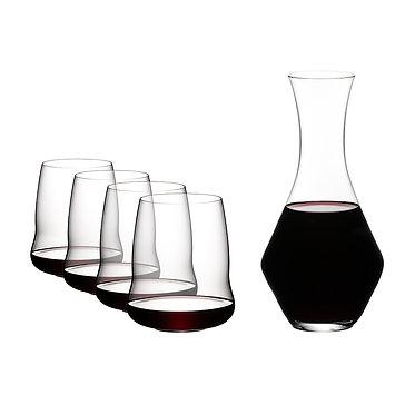 Набор для красного вина 5789/30 Riedel Stemless Wings +Декантер Merlot