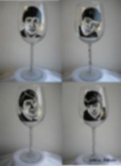 Бокал для вина группы beatles
