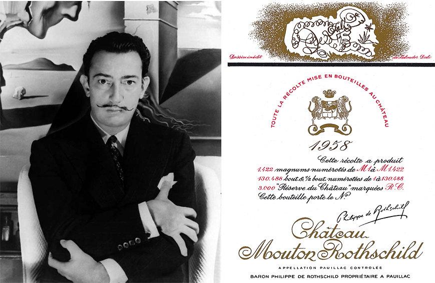 Сальвадор Дали (1958 г.) для этикетки вина мутон ротшильд