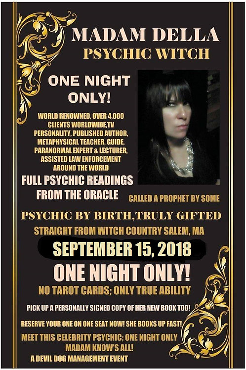 SOLD OUT! WORLD RENOWNED MASTER PSYCHIC WITCH 11:11 TOUR-GETTYSBURG, PA