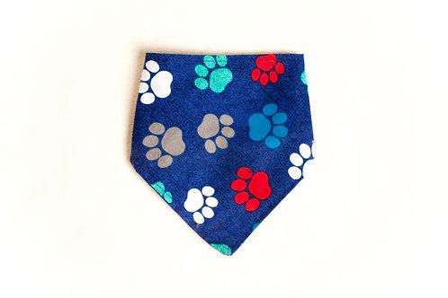 Blue Paw Print Dog Scarf