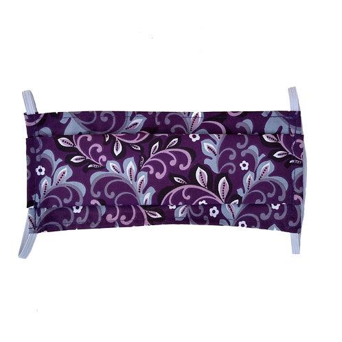 Purple Paisley Mask