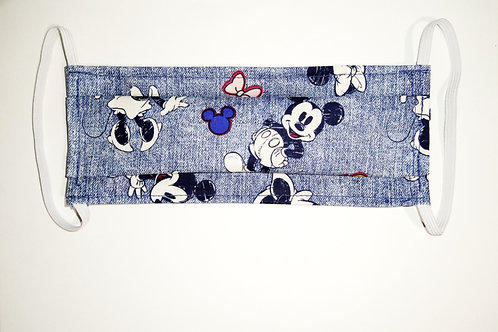 Blue Mickey & Minnie Mouse