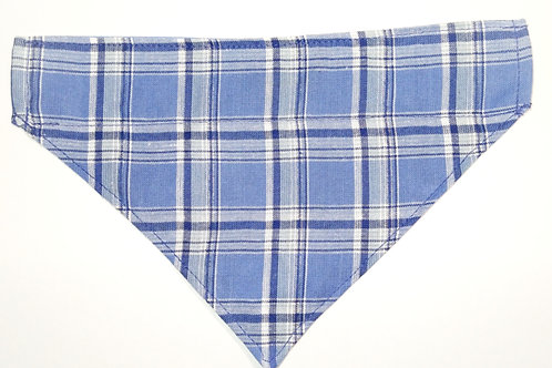 LT Blue Plaid Over-the-collar