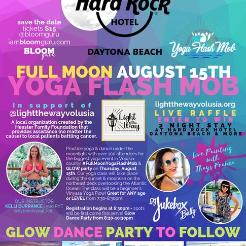 Bloom Full Moon Yoga Flash Mob Poster.pn
